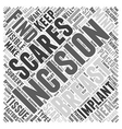 Incisions and Scaring from Breast Surgery Word vector image vector image