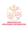 irrelevant or misleading information red gradient vector image vector image