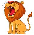 Lion roaring vector image vector image