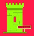 logo castle brand label icon vector image