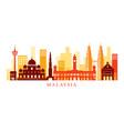 malaysia architecture landmarks skyline shape vector image vector image