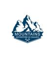mountains logo logo adventure vector image vector image
