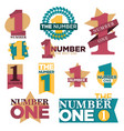 number one best winner golden star award or laurel vector image vector image