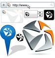 Original pentagonal design element vector image vector image