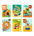 Pet Care 6 Mini Banners Set vector image vector image