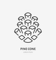 pine cone flat line icon pinecone sign thin vector image vector image