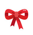 red bow ribbon vector image vector image