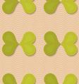 Retro fold green butterflies vector image