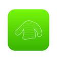 seaman clothes icon green vector image