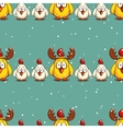 Seamless Pattern Funny Chicks vector image vector image
