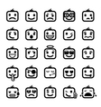 set 25 smiley faces vector image vector image