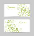 set horizontal banners with flowers vector image