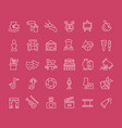 set line icons fine art vector image
