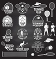 set tennis club badges with design element vector image vector image