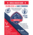 soccer game football championship poster vector image vector image