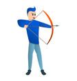 sport arch shooting icon cartoon style vector image vector image