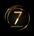 template 7 years anniversary vector image vector image