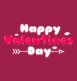 valentines day banner logo background vector image
