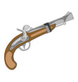 weapon old-time fusil vector image vector image