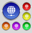 Website Icon sign Round symbol on bright colourful vector image