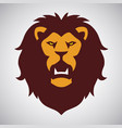 wild lion roaring logo mascot vector image