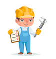 worker professional measuring tool tablet vector image