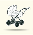 baby carriage sign vector image