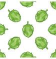 green hop seamless pattern vector image