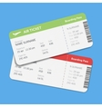Set of the airline boarding pass tickets vector image