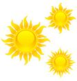 shining sun symbols vector image