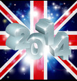2014 union jack flag vector image