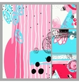 abstract digital contemporary painting in trendy vector image vector image