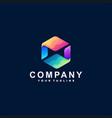 abstract gradient color logo design vector image vector image