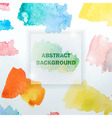Abstract Watercolor Background with Colorful vector image vector image