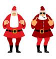 Bad and good Santa Claus Wicked Christmas Santa vector image vector image