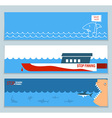 banners about save sharks and undersea world vector image vector image