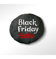 Black Friday lettering and plasticine round banner vector image