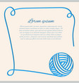 blue clew papercut yarn blue fibre vector image