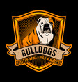 bulldog quote and slogan good for poster design vector image vector image