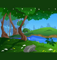 cartoon spring background for a game art vector image
