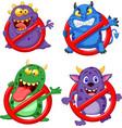 cartoon stop virus collection set vector image vector image