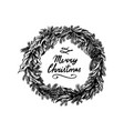 Christmas wreath new year decoration coniferous