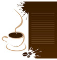 coffee template vector image vector image
