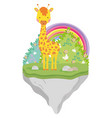 cute and little giraffe character vector image