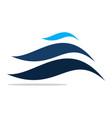 dynamic bar business logo vector image