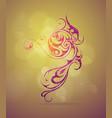 elegant ornamental swirls design vector image