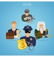 Fairness and Justice Concept vector image vector image