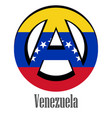 flag of venezuela of the world in the form of a vector image vector image
