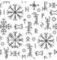 futhark runes seamless pattern norse viking vector image