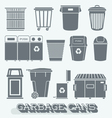 Garbage Cans and Recycling Bins vector image vector image